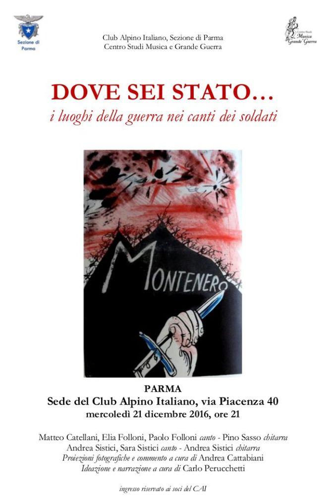 I luoghi della Guerra nei canti dei soldati @ Parma