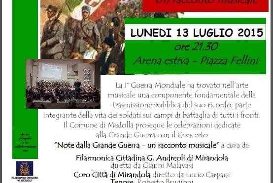 Note dalla Grande Guerra @ Medolla (MO), lun 13 luglio h 21.30