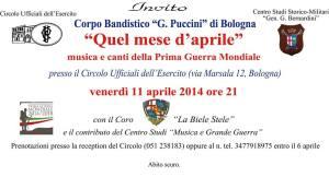 11 aprile 2014 banda Puccini INVITO