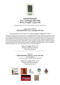 Brescia mostra Gefangenen 23 maggio-7 giugno 2015