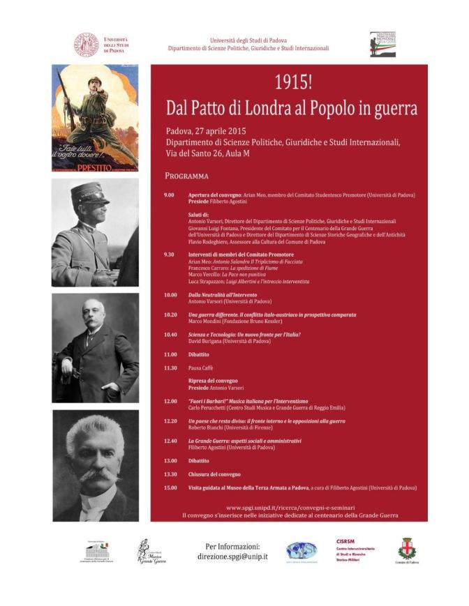1915! Dal Patto di Londra al Popolo in guerra | Convegno @ Padova
