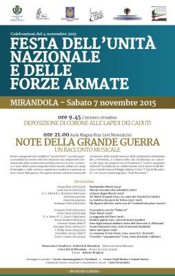 Mirandola - Note della Grande Guerra - 7 novembre 2015