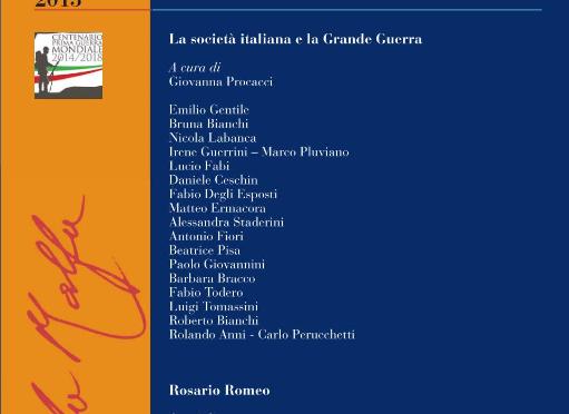 La società italiana e la Grande Guerra | Invito